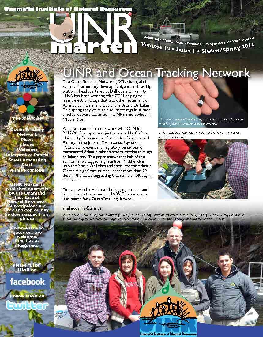 UINR Marten - Volume 10, Issue 1 - Spring 2016