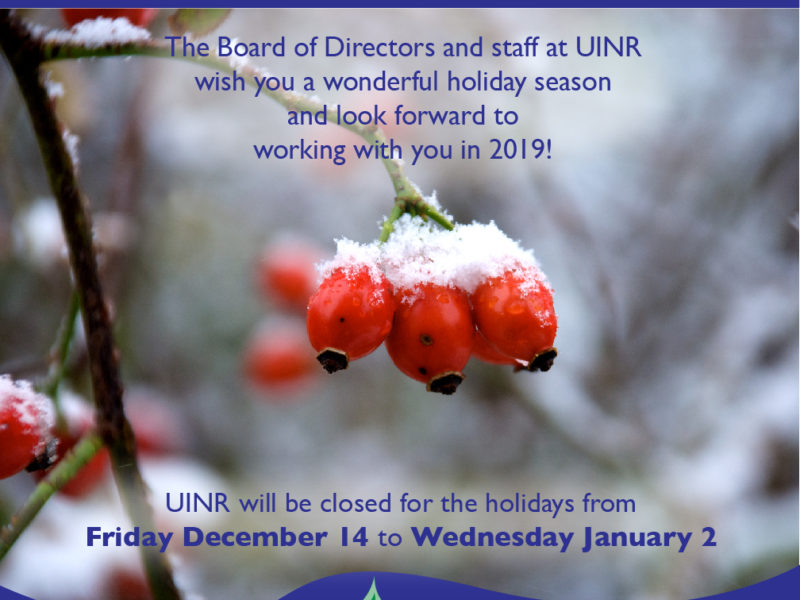 Holiday wishes from Unama'ki Institute of Natural Resources